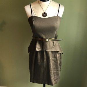 Brand new army green strapless dress
